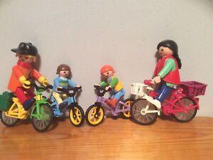 Playmobil Figures With Bikes Bundle
