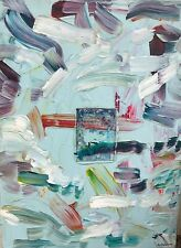 Canadian Art by Paul Ballard Dated 1990 Acrylic on Canvas Titled Study