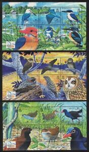 Solomon Is. Owl Swamphen Kingfisher Birds 3 Sheetlets 2004 MNH SG#MS1080