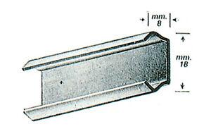Omge art 119.030 binario barra 3 mt acciaio zincato per antine scorrevoli