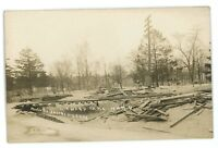 RPPC 4th Ward Park Flood of 1913 HAMILTON OH Vintage Ohio Real Photo Postcard