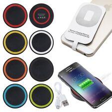Qi Wireless Caricatore Caricabatterie Tappetino + Ricevitore Per iPhone 5s 6s 7