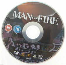 Man On Fire DVD R2 PAL - Denzel Washington - DISC ONLY in Plastic Sleeve