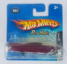 Hot Wheels Pin Hedz Cadillac púrpura sin abrir en tarjeta Free UK Post