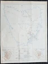 1849 Arrowsmith Rare Antique Convict Map of Van Diemens Land, Tasmania Australia