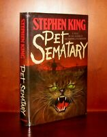 Pet Sematary, Stephen King * True 1st Edition * Y38 $15.95 1st State DJ w/Error