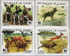 GUINEA 1987 1194-97 A 1069-72 WWF Naturschutz Environmental Protection Fauna MNH