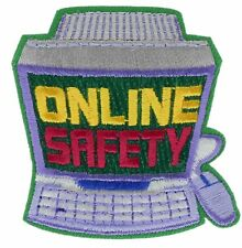 Computer On Line Safety  Badge 2 inch Patch AVA2000 F3D4G