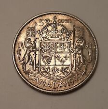 1949 Canada 50 Cents Coin (80% Silver) - King George VI