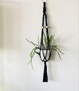 Macrame Plant Hanger - Long x Wide - Handmade in Canada