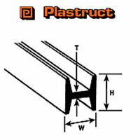 Plastruct HFS-4 Pack of 8 Plastic H Columns For Modelling 3.2 x 3.2 x 375mm
