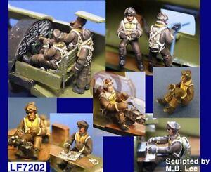 Legend 1/72 B-17 Flying Fortress Heavy Bomber Crew Set WWII (10 Figures) LA7202