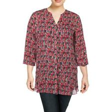 Nic + Zoe Womens Flying Around Printed Office Tunic Top Blouse Plus BHFO 1758