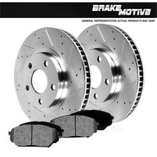 Front Drill And Slot Brake Rotors & Metallic Pads For Jeep Liberty 2002 - 2007