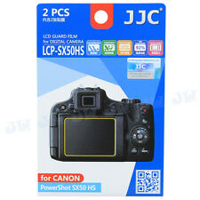JJC 2PCS LCD Guard Film Camera Screen Protector for Canon PowerShot SX50 HS
