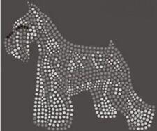 Schnauzer Dog Rhinestone Iron on T Shirt Design    SCXI
