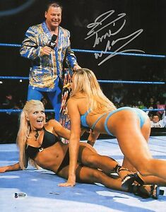 Torrie Wilson Signed 11x14 Photo BAS COA WWE Autograph Picture w/ Stacy Keibler