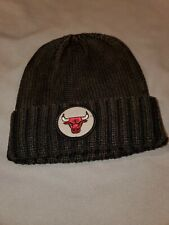 NBA CHICAGO BULLS MITCHELL & NESS BROWN KNIT RIBBED CUFFED BEANIE KS02Z NEW