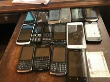 Lot of 16 cell phones for parts Alcatel, Samsung, Blackberry, Motorola, etc