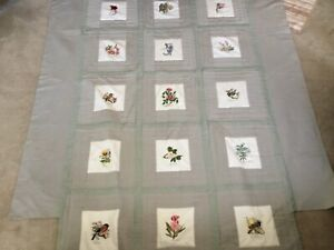 Vintage Queen Size Quilt Bedspread w/HAND SEWN CREATED SQUARES, Southern Theme!
