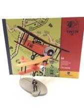 En Avion Tintin le biplan d'acrobaties aériennes l'ile noire  N28 + livret