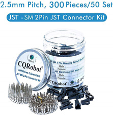 300 Pieces 2.5mm Pitch JST - SM JST Connector Kit. 2.5mm Pitch Male and Female -