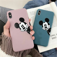 Disney Mickey Mouse Soft Thickened TPU Case Fr iPhone 11 Pro XS Max X XR 7 Cover