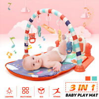 3 in 1 Baby Gym Floor Play Mat Activity Center Kick Music Play Childrens Toy