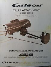 Gilson Montgomery Ward Lawn Garden Tractor Tiller Implement Owner Amp Parts Manual