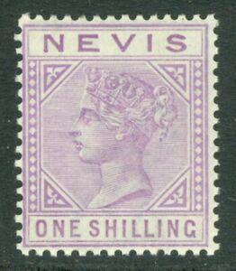 SG 34 Nevis 1882-90. 1/- pale violet. Lightly mounted mint CAT £100
