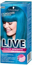4 X Schwarzkopf Live Color Ultra Brights or Pastel 96 TURQUOISE TEMPTATION