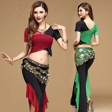 Belly Dance Costumes pratica 2//3 PZ Set Tribale Cinturino Blusa Top PANTS Cinture