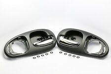 BLACK/CHROME PAIR REAR Interior Inside Door Handle for 98-04 CONCORDE LHS 300M