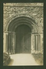 Doorway to St. Mary The Virgin, Stow, Lincolnshire - Vintage Photo Post Card