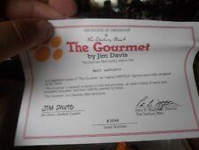 "Garfield ""The Gourmet� By The Danbury Mint Jim Davis 1993 Excellent Condition"