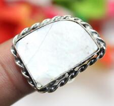 """Mother of Pearl Gemstone Ring 925 Sterling Silver Overlay Us Size 8"""" U240-C246"""