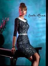 BNWT Carla Ruiz Mother of Bride Groom Races Navy & Green Lace Dress Size 16-18