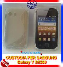 Pellicola+Custodia cover case WAVE CLEAR per Samsung Galaxy Y S5360