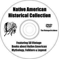 50 Rare & Vintage Native American Indian Mythology/Historical 50 Books on DVD