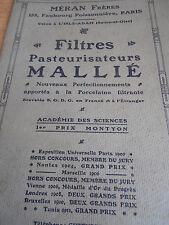 catalogue de filtres pasteurisateurs L'ISLE ADAM 95