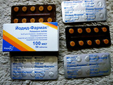 Potassium Iodide pills Iodine Medicine IODIUM 50 TABLETS Radiation Blocking Tabs