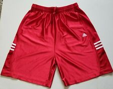Adidas 3 Stripe Dazzle Basketball Athletic Shorts Red Mens Size Large  (241548)