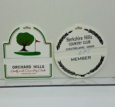 Berkshire Orchard Hills Golf Country Club plastic bag tags Lot 2 Chesterland Oh