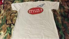 Styles P LOX D-Block white t-shirt L large