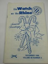 The Watch on the Rhine Society of the Third Infantry Div.Dec. 1986 Vol. 68 No. 3