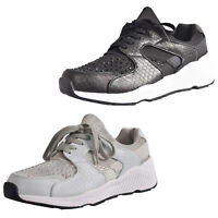 Ladies New Diamente Light Weight Trainers Women Gym Fitness Workout Causal Shoes