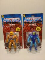 Masters of the Universe LOT HE-MAN + SKELETOR Action Figures Retro Play NEW