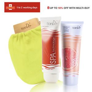 Tiande AntiCellulite Set Chili Cream Grapefruit Scrub and Spa Glove (10%OFF)