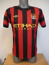 New Umbro Red & Black Etihad Airways Manchester City A. Sisa #90 Soccer Jersey