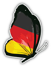 Germany Flag Butterfly Car Bumper Sticker Decal 4'' x 5''